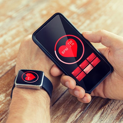 Cellphone paired with smart watch